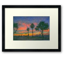 The Pink Salmon Sunset Framed Print