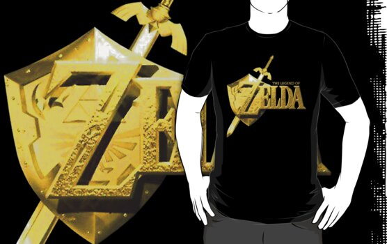 Legend of Zelda Gold Logo by MrP1ckles