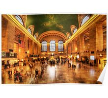 Golden Grand Central Poster