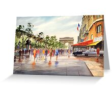 Champs Elysees and Arc De Triomphe Greeting Card