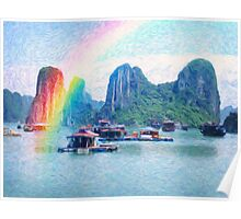 Heavenly cove and land of rainbow Poster