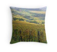 Fontodi's wineyards in Panzano - Toscana Throw Pillow