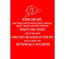 roses are red, violets are violet. Photographic Print