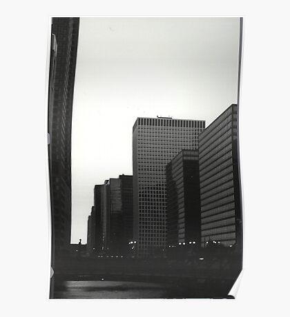 chicago blackandwhite Poster