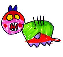 Lucinda Colourful Monster by avriljean