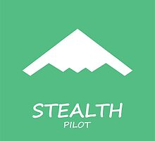 Stealth Pilot green by rustyredbubble
