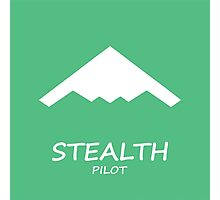 Stealth Pilot green Photographic Print