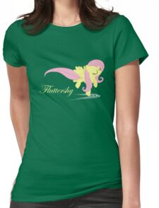 Fluttershy Gliding on Water Womens Fitted T-Shirt