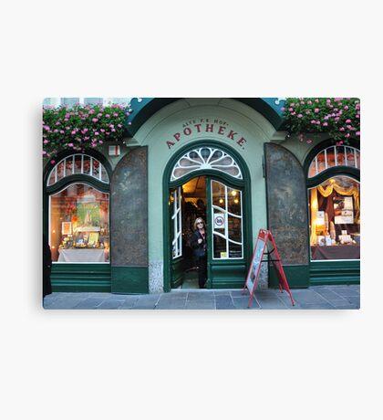 Apotheke Shop Canvas Print