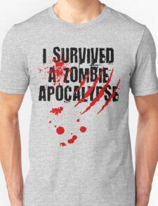I Survived a Zombie Apocalypse Unisex T-Shirt