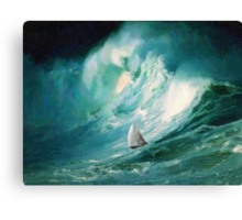 Caught in high tides  Canvas Print