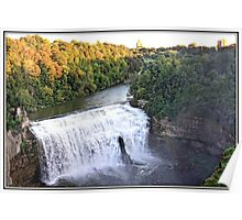 Lower Falls on The Genesee River Poster