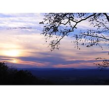 Mountain View Sunset Photographic Print