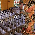 followers of Cao Dai religion, Tayh Ninh. by geof