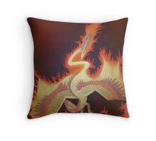 Phoenix Dragon Throw Pillow