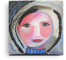 Portrait of Girl with Braids Canvas Print