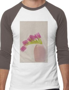 Tulips And Lace Men's Baseball ¾ T-Shirt
