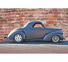 Black Satin Willys Photographic Print