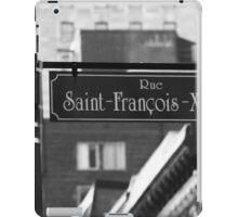 Montreal - Rue Saint Francois Xavier iPad Case/Skin