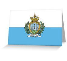 Flag of San Marino Greeting Card