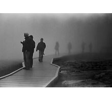 Walking in the Mist in Yellowstone Photographic Print