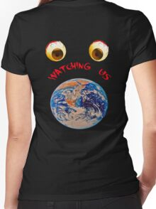 watching us Women's Fitted V-Neck T-Shirt