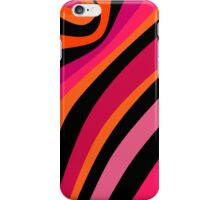 Stripes - magenta, orange, pink and black pattern iPhone Case/Skin