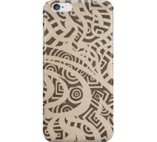 Black and White Tribal Spiral iPhone Case/Skin