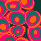 Energy spots - orange, magenta, petrol by CatchyLittleArt