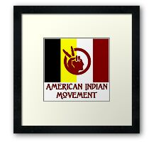 The American Indian Movement - Flag Framed Print