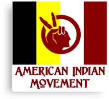 The American Indian Movement - Flag Canvas Print
