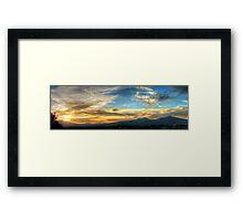©HCS December Gold Sunset I Framed Print