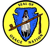 Seal of the Osage Nation Photographic Print