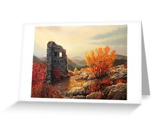 Old Fortress Ruins Greeting Card