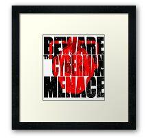 A warning! Framed Print