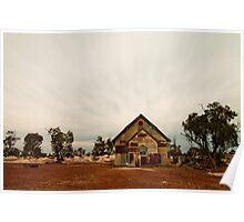 Corrugated Church (front view), Lightning Ridge, NSW, Australia Poster