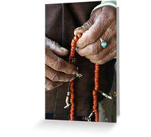 Hands of faith, Bhutan Greeting Card