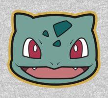 Bulbasaur Pokemon Minimal Design First Generation Sticker Shirt Kids Clothes