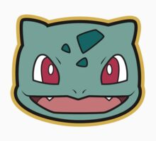 Bulbasaur Pokemon Minimal Design First Generation Sticker Shirt Kids Clothes