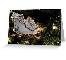 Christmas Sleigh Ornament  Greeting Card
