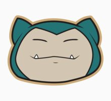 Snorlax Pokemon Minimal Design First Generation Sticker Shirt by Jorden Tually