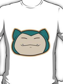 Snorlax Pokemon Minimal Design First Generation Sticker Shirt T-Shirt