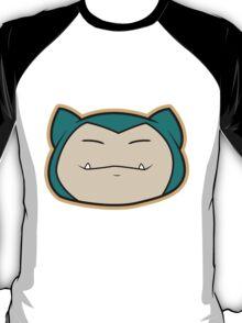 Snorlax Pokemon Minimal Design First Generation Sticker Shirt T-Shirt