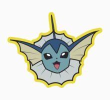 Vaporeon Pokemon Minimal Design First Generation Sticker Shirt by Jorden Tually