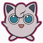 Jigglypuff Pokemon Minimal Design First Generation Sticker Shirt by Jorden Tually
