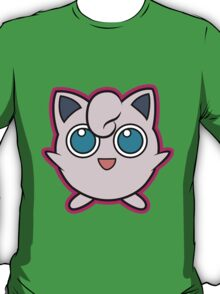 Jigglypuff Pokemon Minimal Design First Generation Sticker Shirt T-Shirt