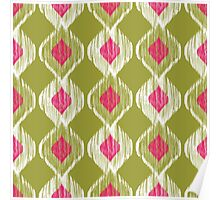 Colorful Abstract Aztec Ikat Tribal Pattern Poster