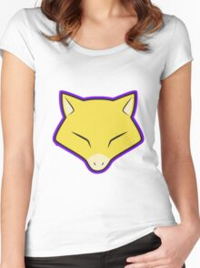 ABRA Pokemon Minimal Design First Generation Sticker Shirt Women's Fitted Scoop T-Shirt