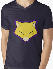 ABRA Pokemon Minimal Design First Generation Sticker Shirt Mens V-Neck T-Shirt