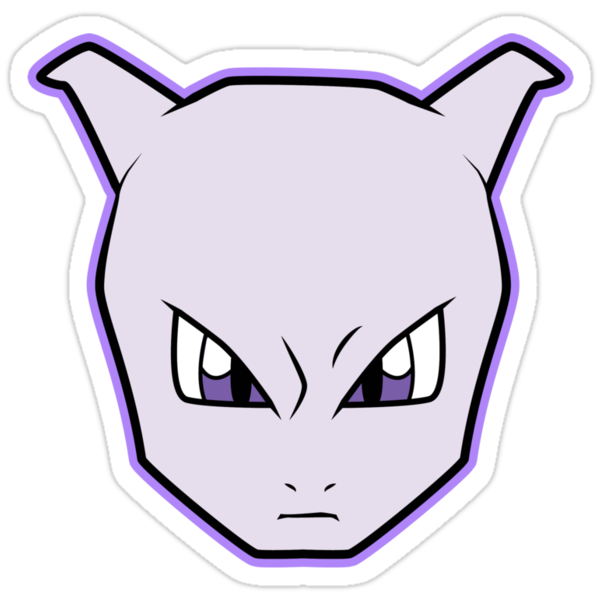 MEWTWO Pokemon Minimal Design First Generation Sticker Shirt by Jorden Tually